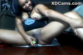 Young Black Girl With Her Dildo