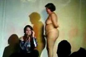Old slut naked in public