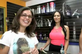 Pussy Flashing In Store During Stunt