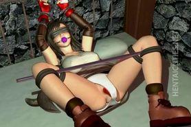 Hottie 3D hentai slave gets nailed hard