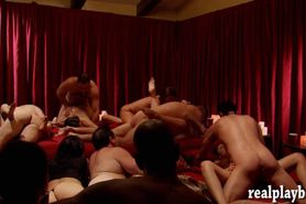Swingers massive orgy in Playboy mansion