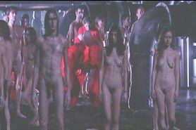 nude people on theatre stage