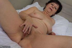 OldNanny Old lesbian mature masturbate her pussy w