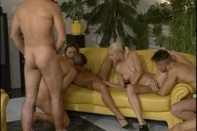 2 blondes dp gang bang