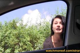 Busty teen Anna fucked in the backseat