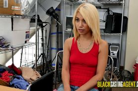 Blondie Asian girl gets fucked by the black casting age