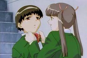 Innocent anime girl seducing her horny teacher