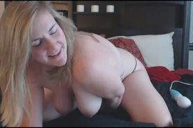 Blonde MILF Enjoys Toying Her Shaved Pussy Very Mu