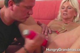 Young Guy Fucks Horny Old Granny