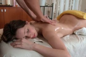 Turned on Kani gifting her masseur with a blowjob