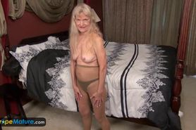 Europe Mature Old granny Cindy gone too horny