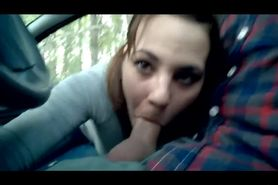 Car Blowjob In The Woods