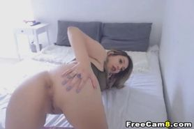 Tattoed Emo Teen Show her Tiny Cunt