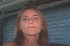 Blonde Crack Whore Takes Facial