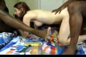 College Slut Interracial Gang Bang