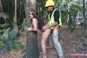 Tight Jaye Austin pounded in the woods