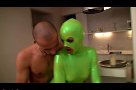 Tanja get fucked in green shiny spandex Pt. 6
