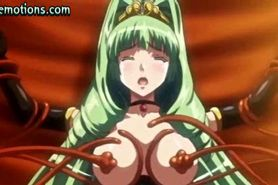 Anime slut in stockings gets drilled