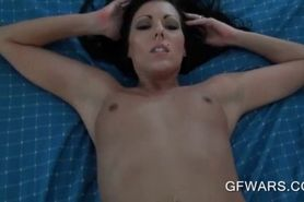 Wet babe pounded in pussy and mouth