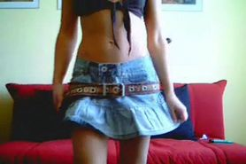 Cam: homemade amateur teen webcam stripper