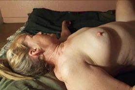 He makes his mature wife cum