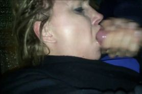 Sucking cock and eating cum