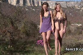 April E and Sonya D having a sex picnic