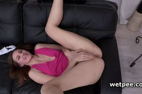 Ariadna pissing in panties and masturbating