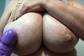 Grandma showing of her big boobs