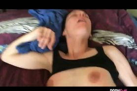 Dirty Talking Girl Gets A Dick Orgasm