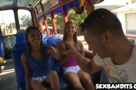 Latina city bus whores