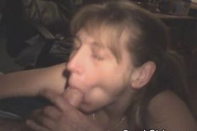 Blonde Crack Slut With Mouth Full