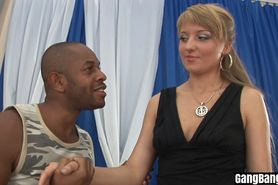 Horny blonde MILF got banged by a perverted black guys