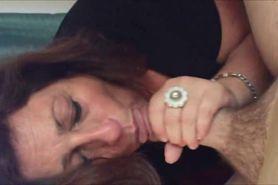 Horny amateur grandma blowjob