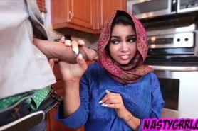 Muslim exchange student filled with cum